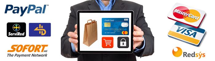 Múltiples formas de pago para tu tienda online