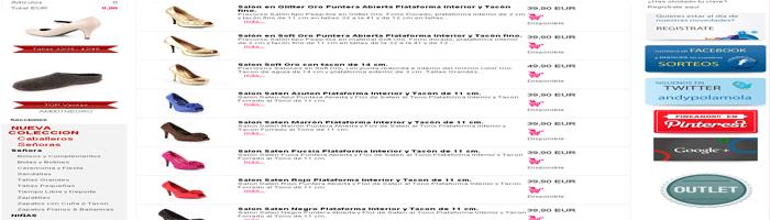 Catálogo de productos tienda online